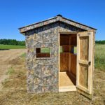 Square Camo Metal Hunting Blind