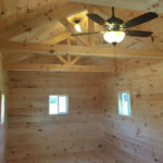 Log Cabins for sale showing the interior finished out.