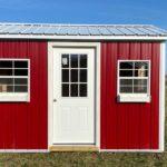 Red Chicken Coop Front