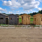 Square Camo and Octagon Wood Hunting Blinds