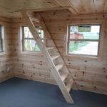 Interior of a log cabin for sale near Bay City MI.