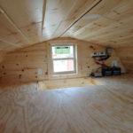 Inside Log Cabin for sale near Ludington MI.