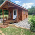 Inside view of a log cabin for sale near Bay City MI.